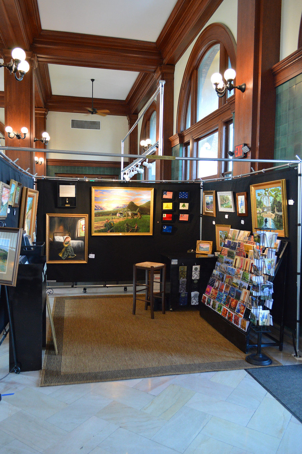 L. Nicholas Smith art show booth