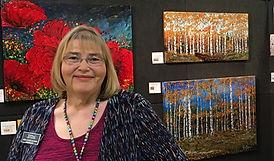 Artist Linda Calvert Jacobson, bio photo, flowers