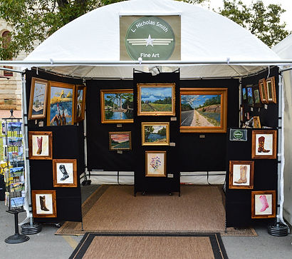 booth photo for artist L. Nicholas Smith