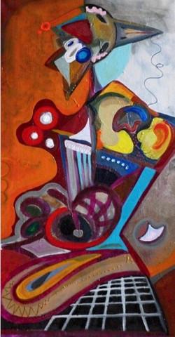 Painting 34, 80 x 60cm acrylic on ca