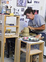 Mike Anderson working in his studio, Rockport, Texas