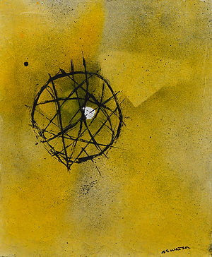 Nick Watson abstract art bulverde texas the makery yellow black