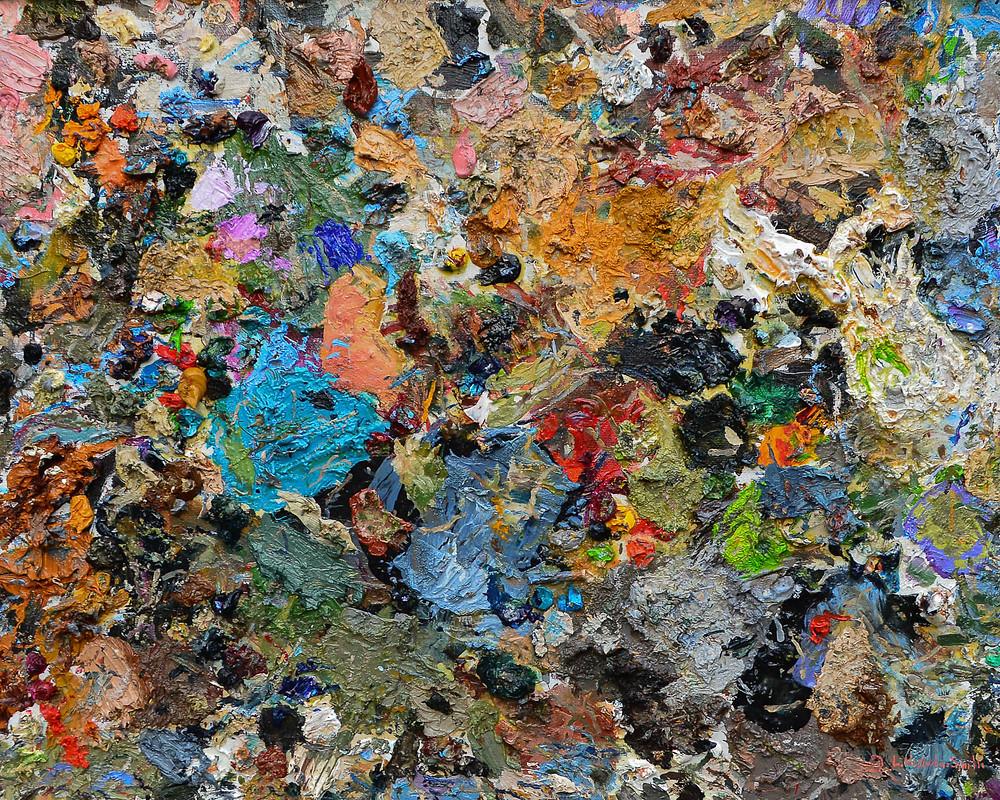 oil paint color palette artist paint mixing