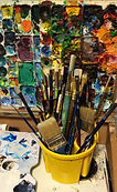 Anna Johnson brushes and palette