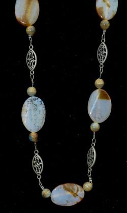 Agate & Filigree Necklace