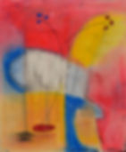 Nick Watson abstract art texas pastel red yellow orange