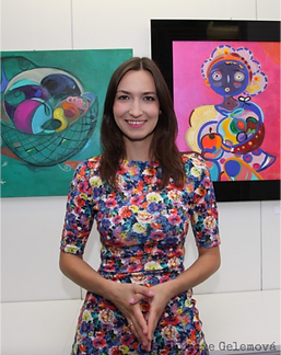 Visiting Artist, Lucie Gelemova shares her contemporary modern paintings