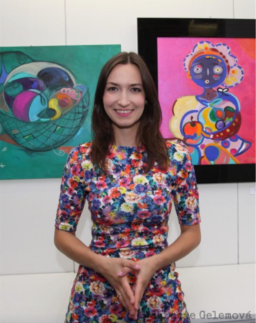 artist Lucie Gelemova visiting artist at L. Nicholas Smith Fine Art