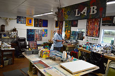 the Makery, the lab, Nick Watson painting, art studio, Bulverde, Texas