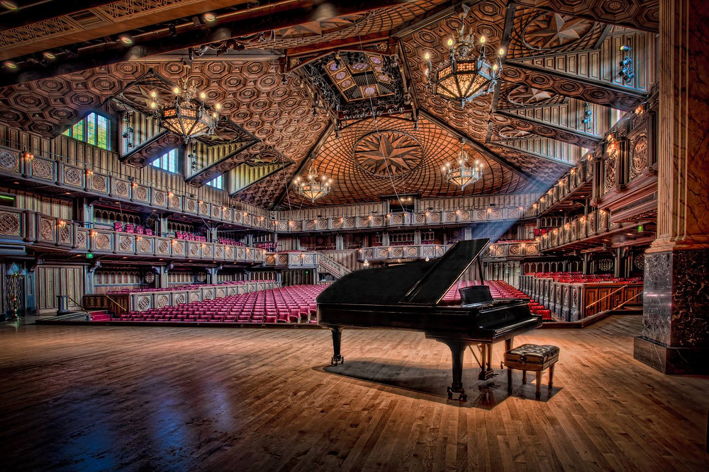 festival hill concert hall in round top texas piano in theater
