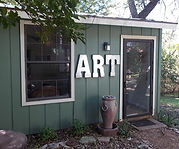 Patty Thomas, art studio, Ingram Texas