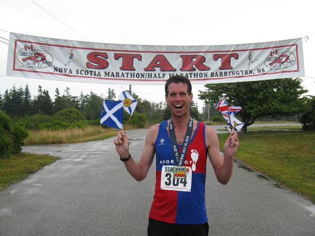 Colin afer sub 3 hours in Nova Scotia