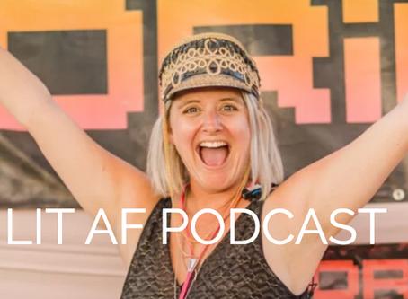 """""""Lit AF with Sarah Cohan"""" podcast"""