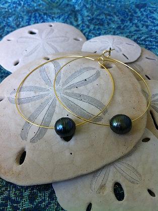 2 inch Gold-Plated Hoop Earrings