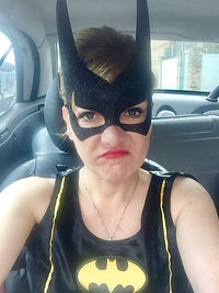 Superhero children's entertainer Bat Woman