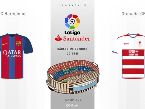 Liga SANTANDER: FC Barcelona Vs Granada CF