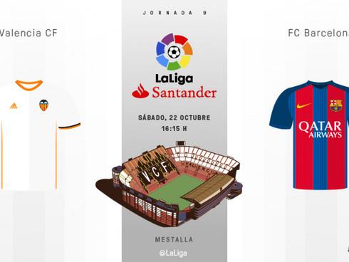 Liga SANTANDER: Valencia CF Vs. FC Barcelona