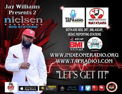 Jay Williams Indie One Radio & TAP Radio