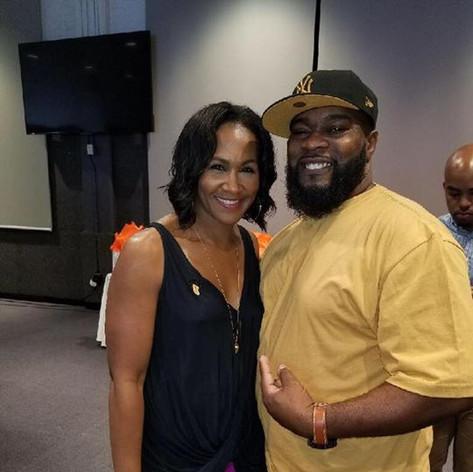 Myslef with Ms. Terry J Terri J. Vaughn