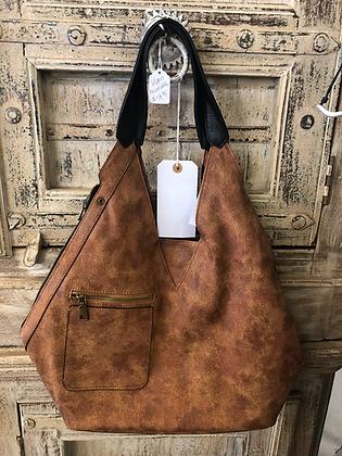 Reversible vegan leather purse