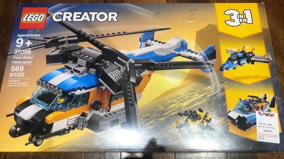 Lego creator 3 em 1 helicóptero