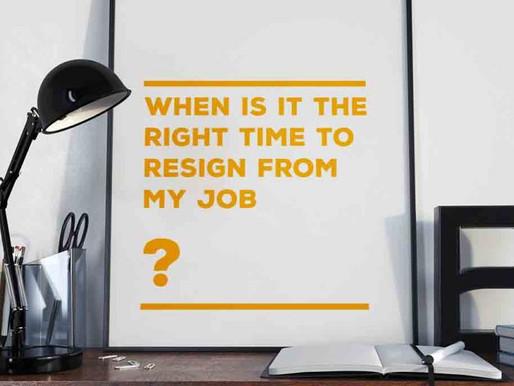 When should I quit my job?
