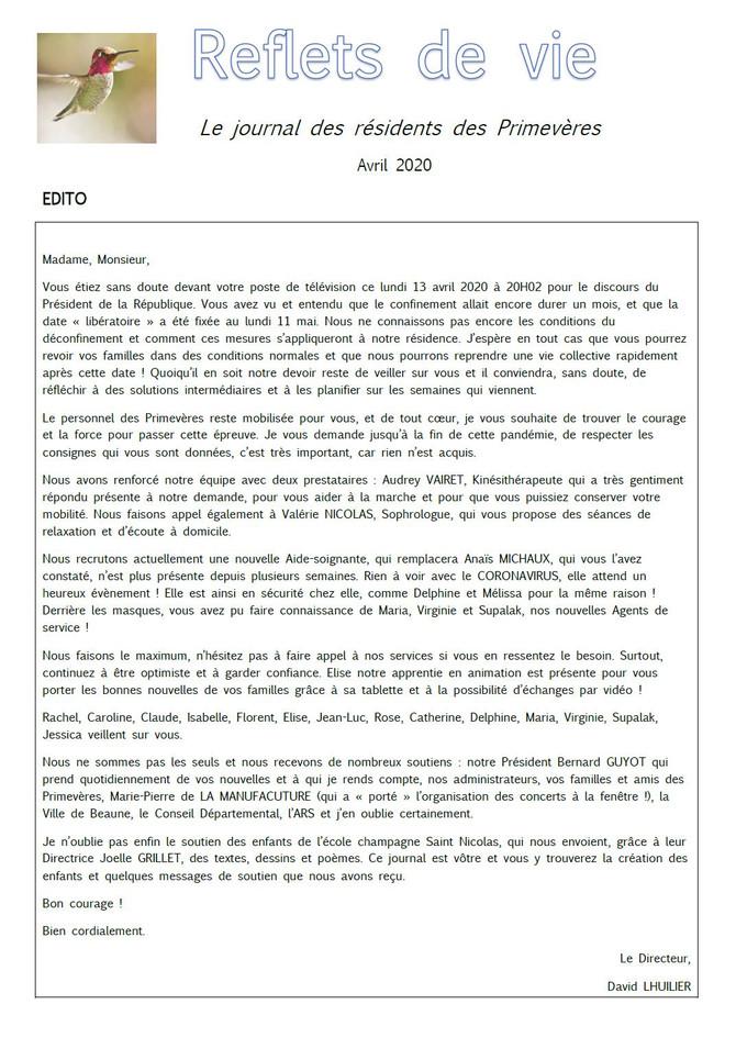 Journal des résidents