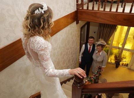 Naomi's Bespoke Lace Dress - Winter Wonder Wedding at Errigal Country House Hotel