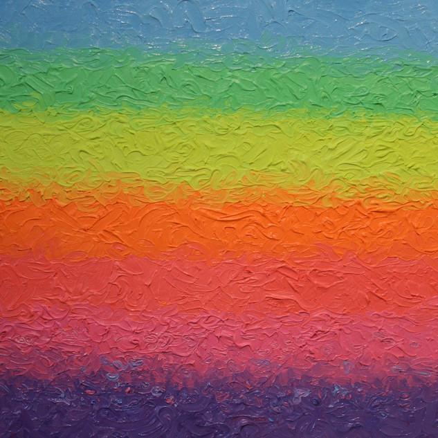 Mindfullness. 40cm-50cm oil fluorescent