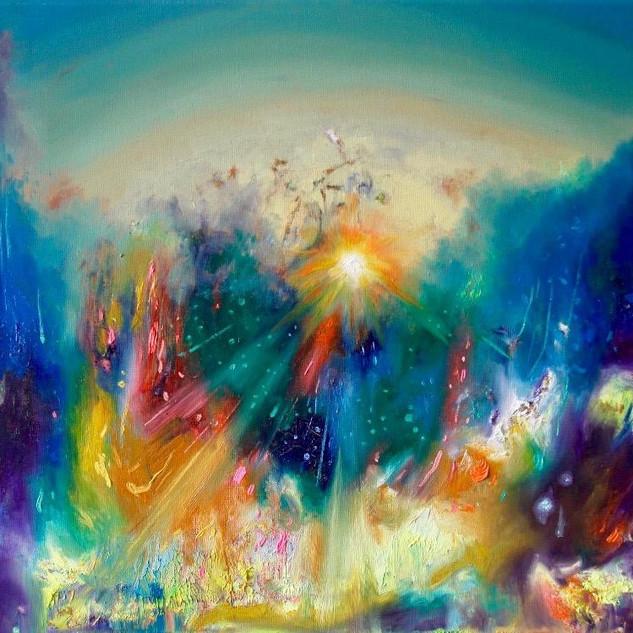 Future. Fluorescent oil on canvas. 40cm x 50cm