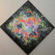 Untitled fluorescent oil