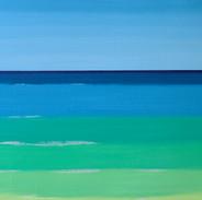 Freeze.45cm-95cm,fluorescent oil on canvas