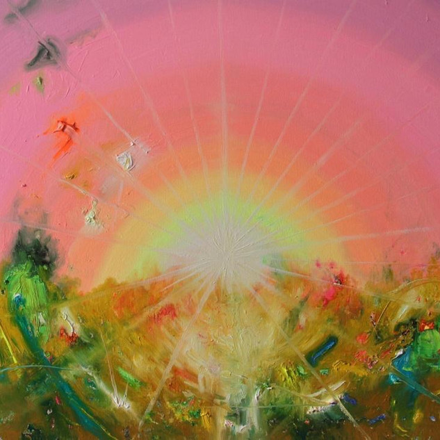 Food. Fluorescent oil on canvas 50cm x 70cm