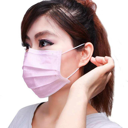 Junto Hygienemaske Pink (50 Stk.)