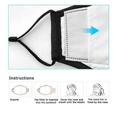 Filter für Stoffmasken PM2.5 Carbon Filter (10 Filter)