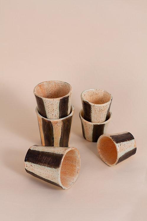 Speckled Stripe Coffee Tumblers