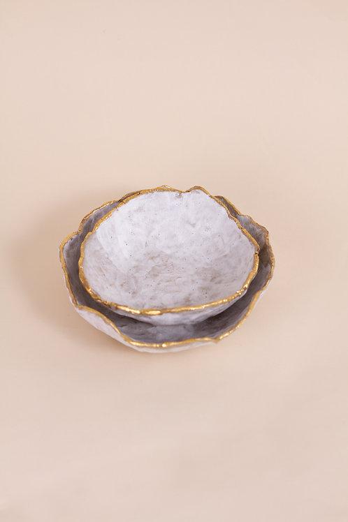 Gold Lustre Bowls Gift Set
