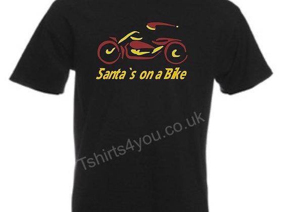 Santas on a bike T shirt