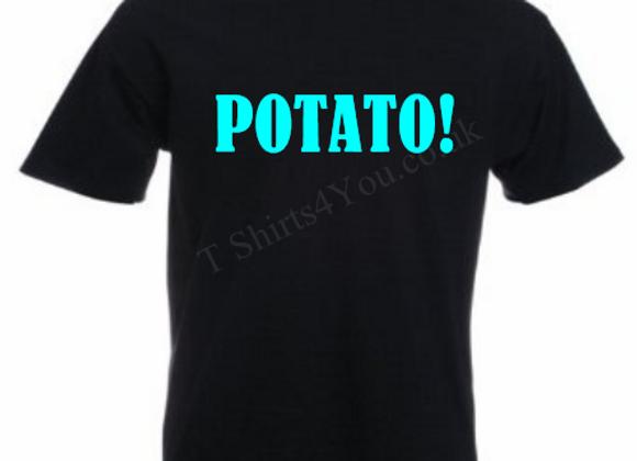 Potato printed tshirt