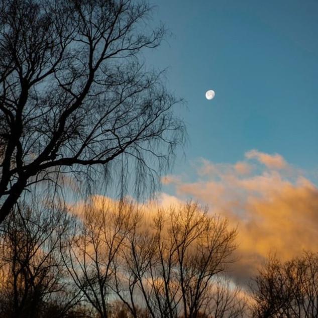 Moon at Sunrise_#moonphotography #sunris