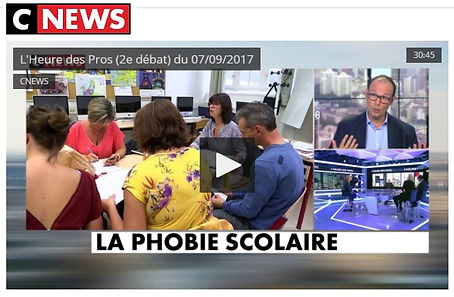 Emisssion CNEWS APS Association Phobie Scolaire