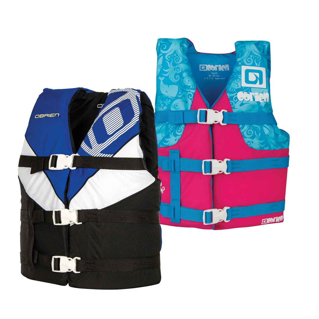 Obrien Youth Nylon Blue/Pink Vest