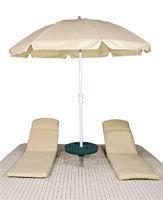 Otter Island Umbrella and Cushions