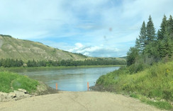 """At the Peace River"""