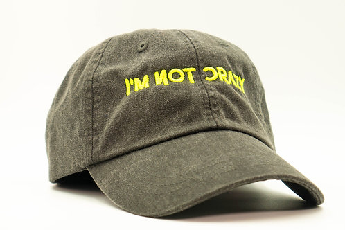 I'm Not Crazy Hat (Neon Grn)