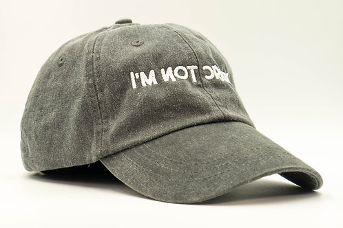I'm Not Crazy Hat (Charcoal/White)
