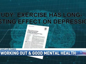 Exercise contributes to good mental health