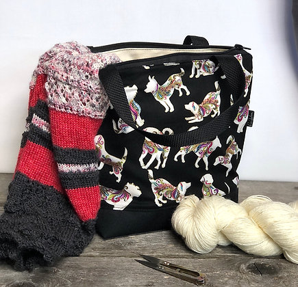 Sac à tricot chiens