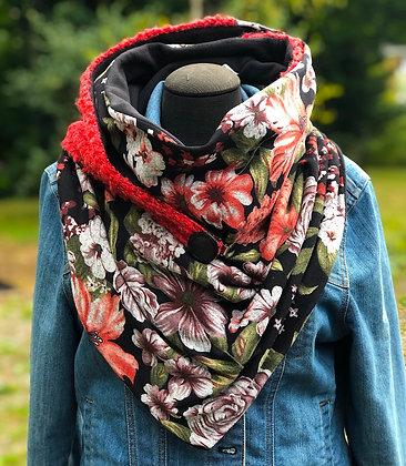 Foulard écharpe fleuri