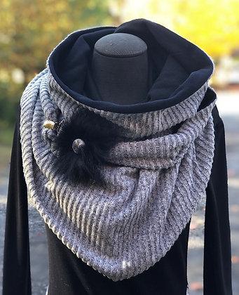 Foulard écharpe grise